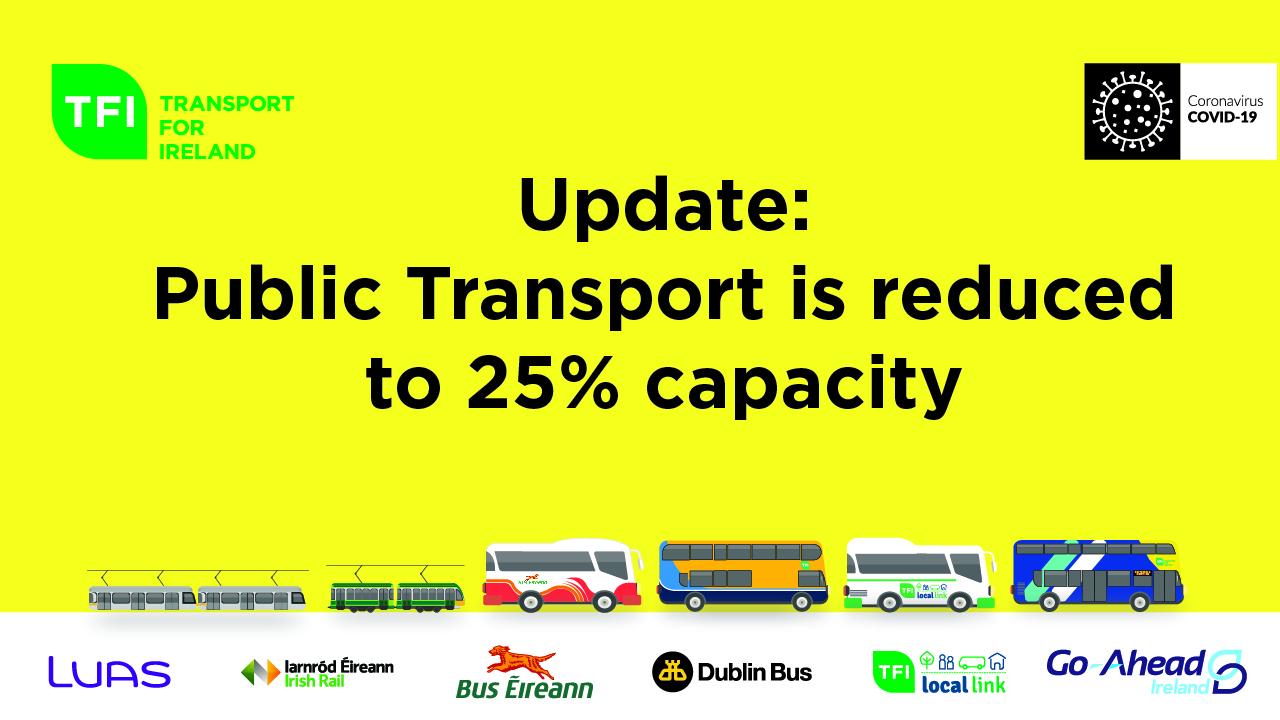 25% Capacity on Public Transport Image